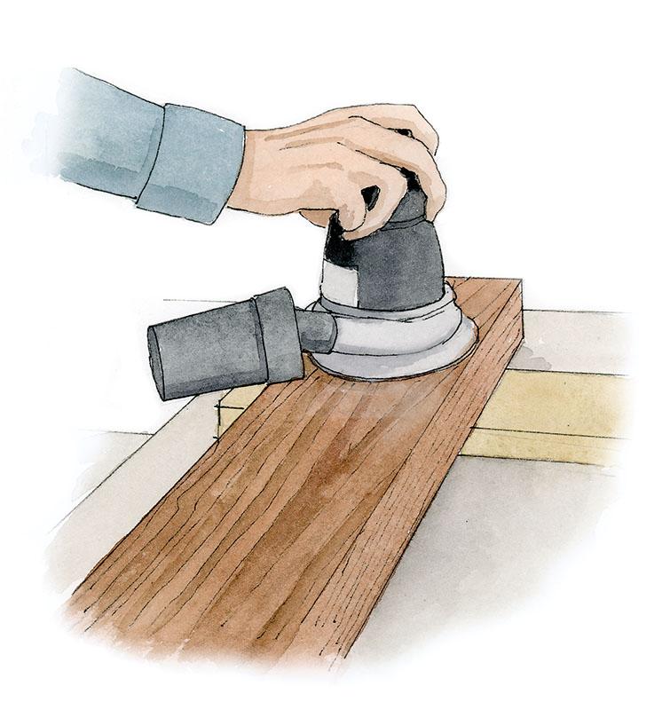 Sanding (Illustration: Rob Leanna)