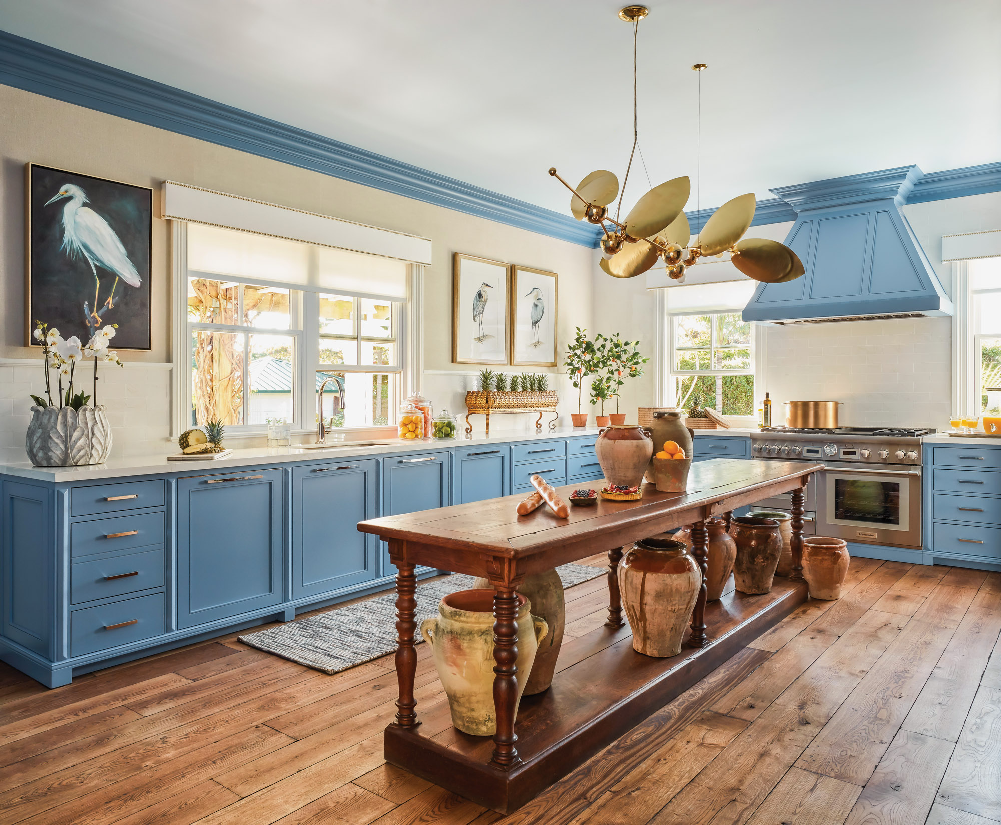 Blue Dragon by Benjamin Moore paint, Palm Beach kitchen