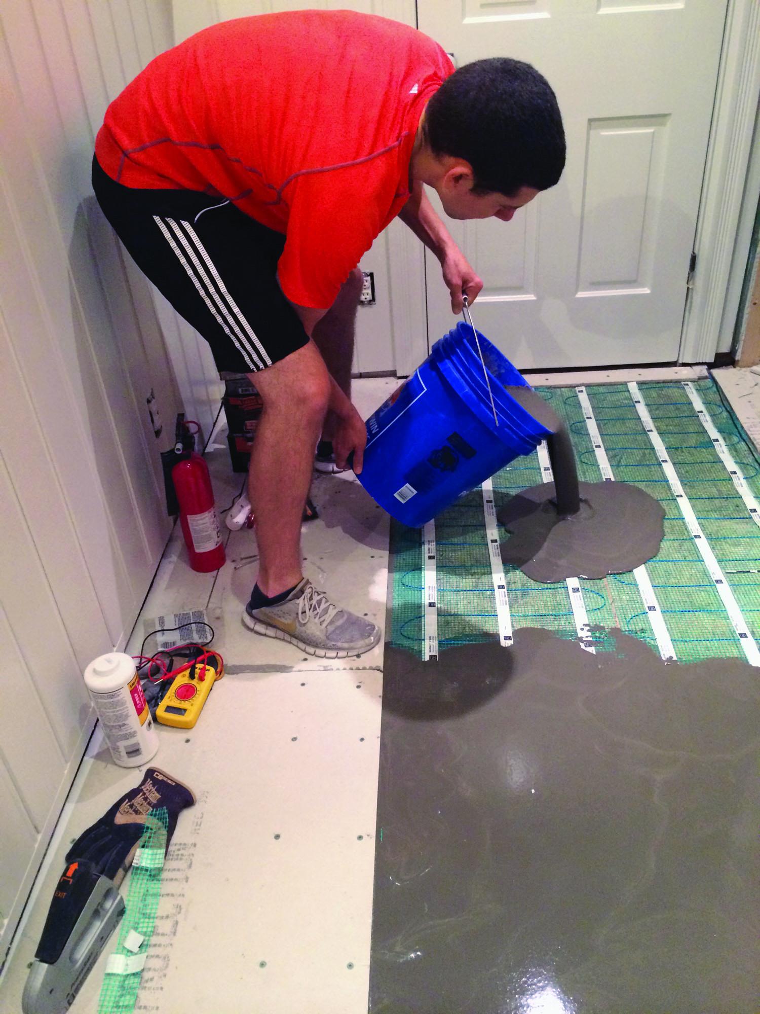 SB radiant-floor-pouring-mud