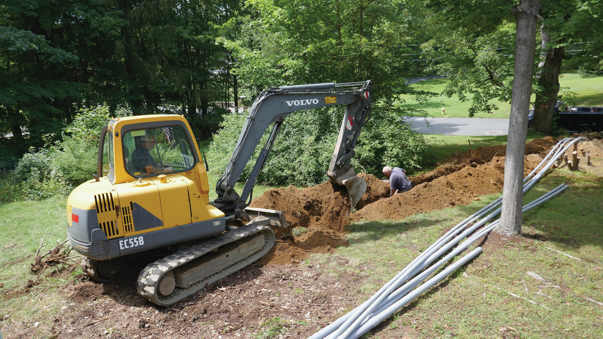burying electrical lines