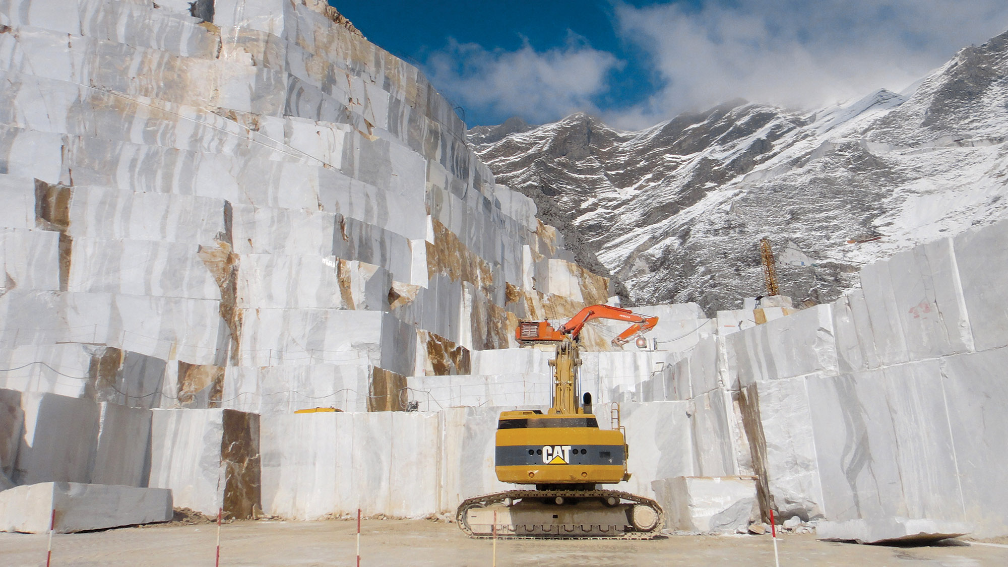 Ortensia quarry in Carrara, Italy