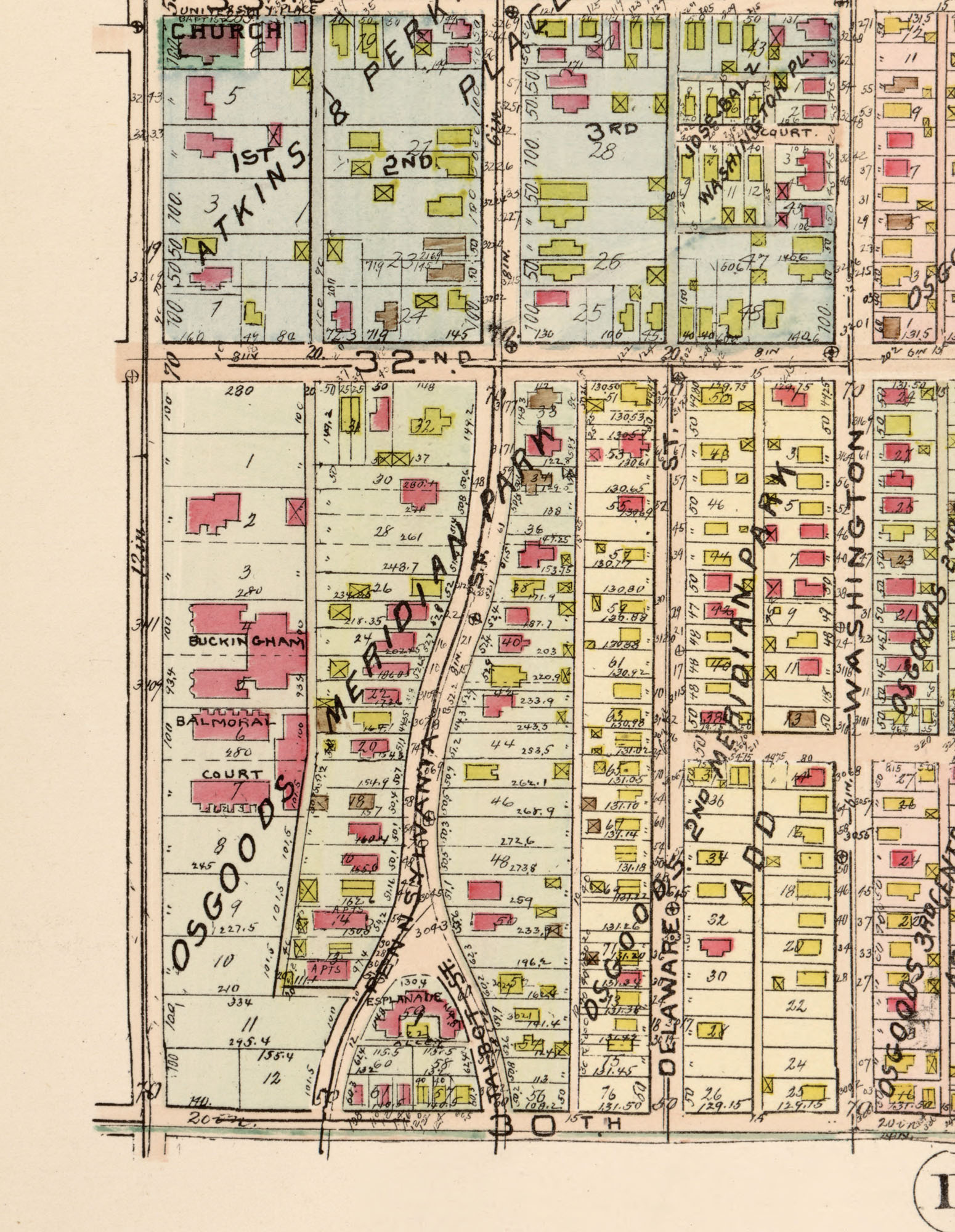 map of an early Indianapolis suburb