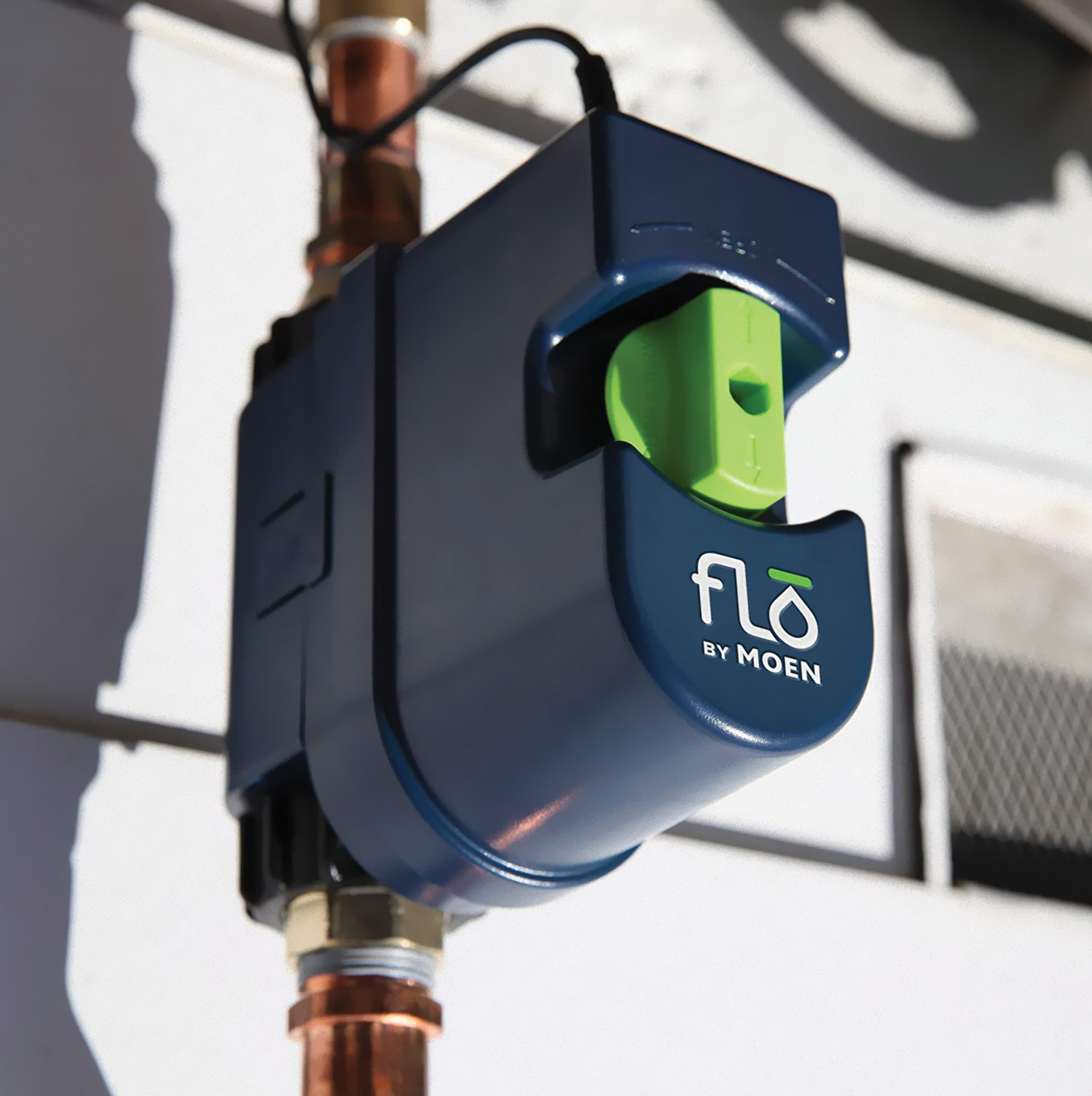 FLO monitors water leaks as little as a single drop per hour. The device also permits the user to  set conservation goals.