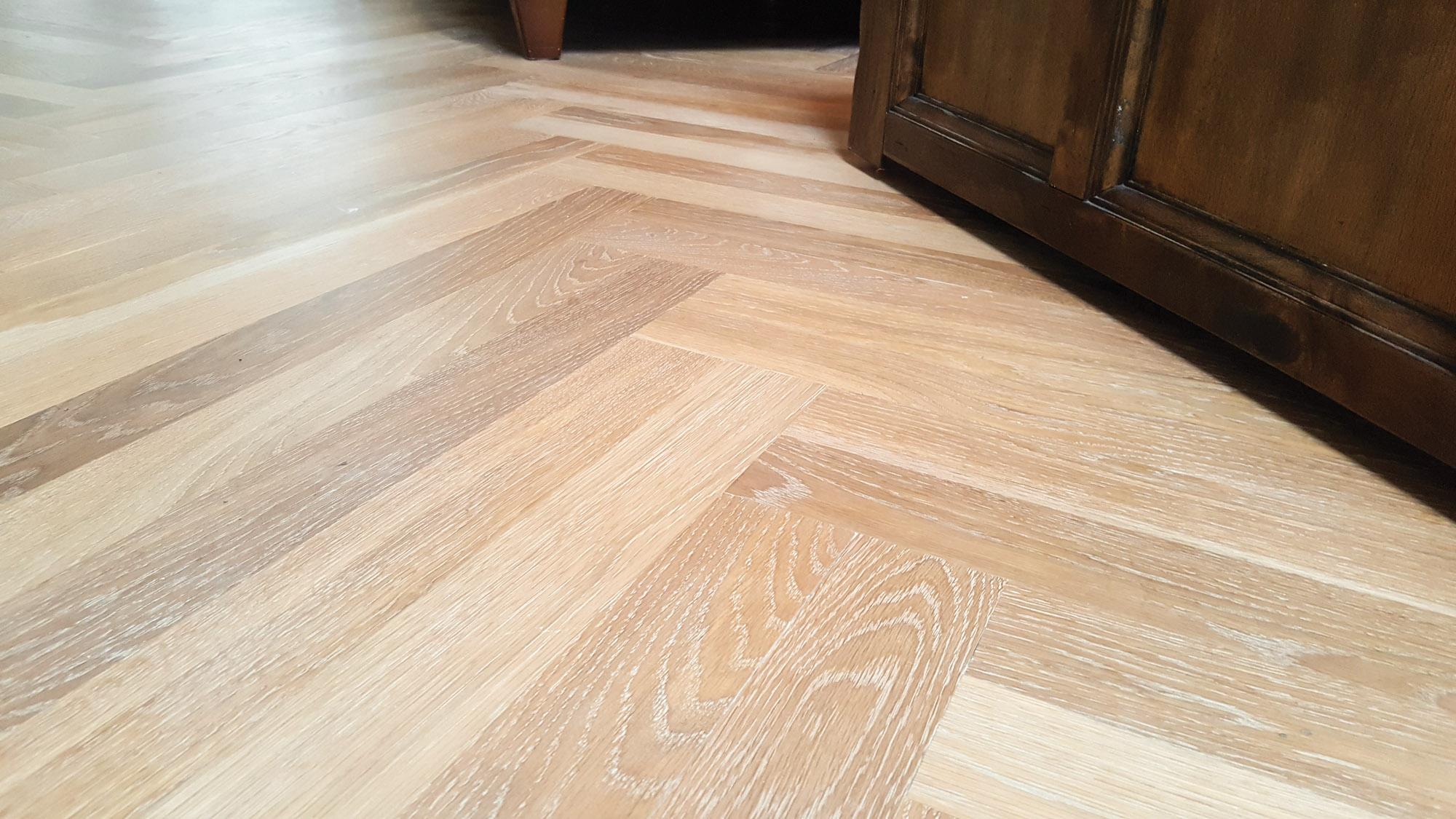 whitened white oak floor