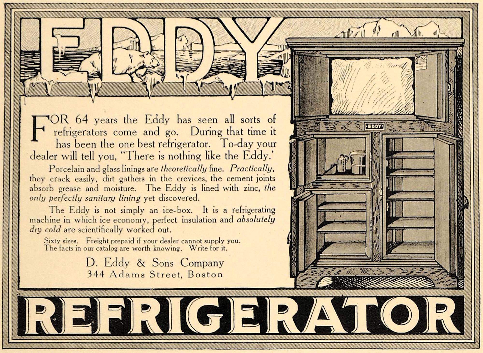 Eddy Refrigerator ad