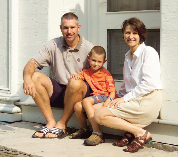 family surviving home restoration