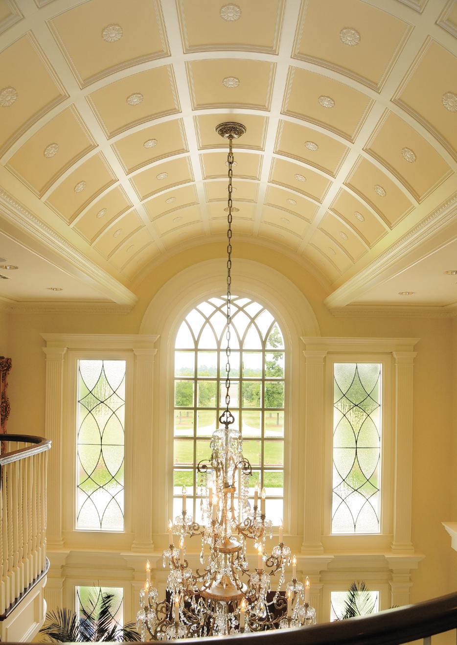 Decorative barrel ceiling plaster
