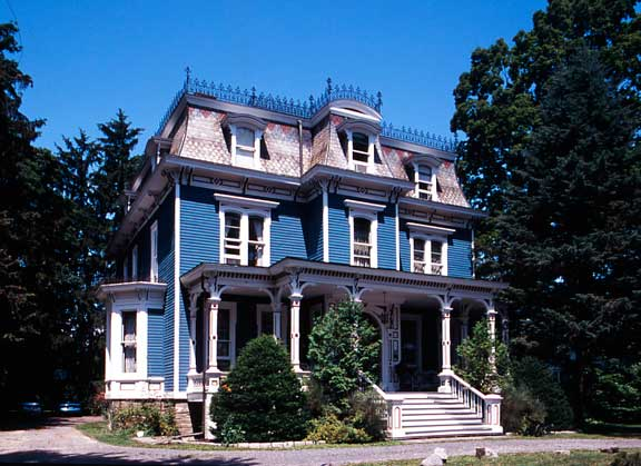 Typical of a towerless middle-class house is this Red Hook, New York, example with a handsome veranda across the front and a projecting upper bay in lieu of a tower. It is a type that might be found anywhere from Maine to California in the 1870s and 1880s.
