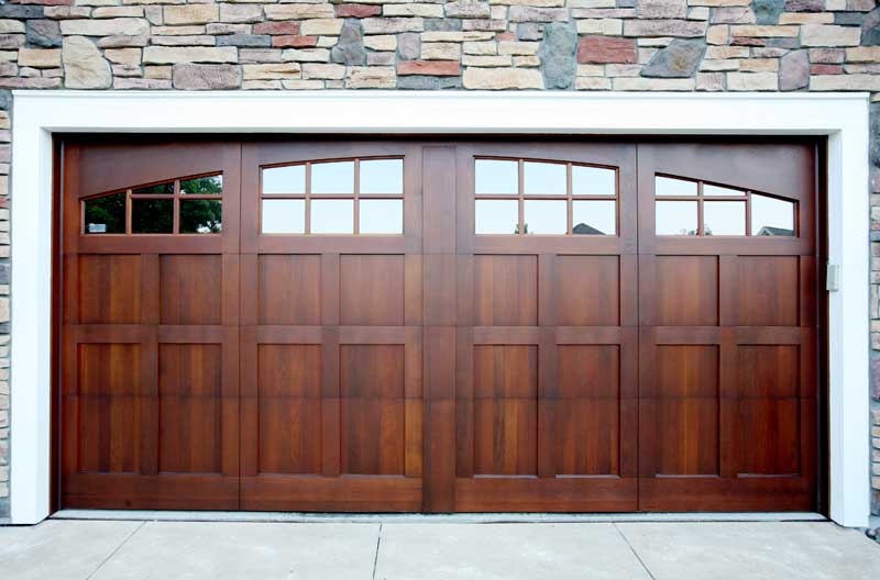 wood garage door from Designer Doors