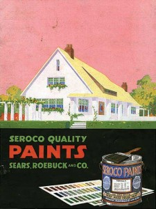 Seroco paints catalogs from Sears outlined color schemes for all of the company's mail-order houses. (All illustrations from the collection of John Crosby Freeman)