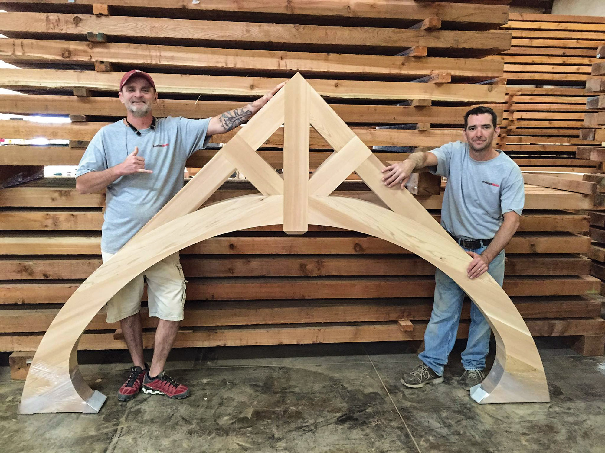 Depending on how they're constructed, arches, trusses, and brackets can be structural, partially supportive, or purely decorative
