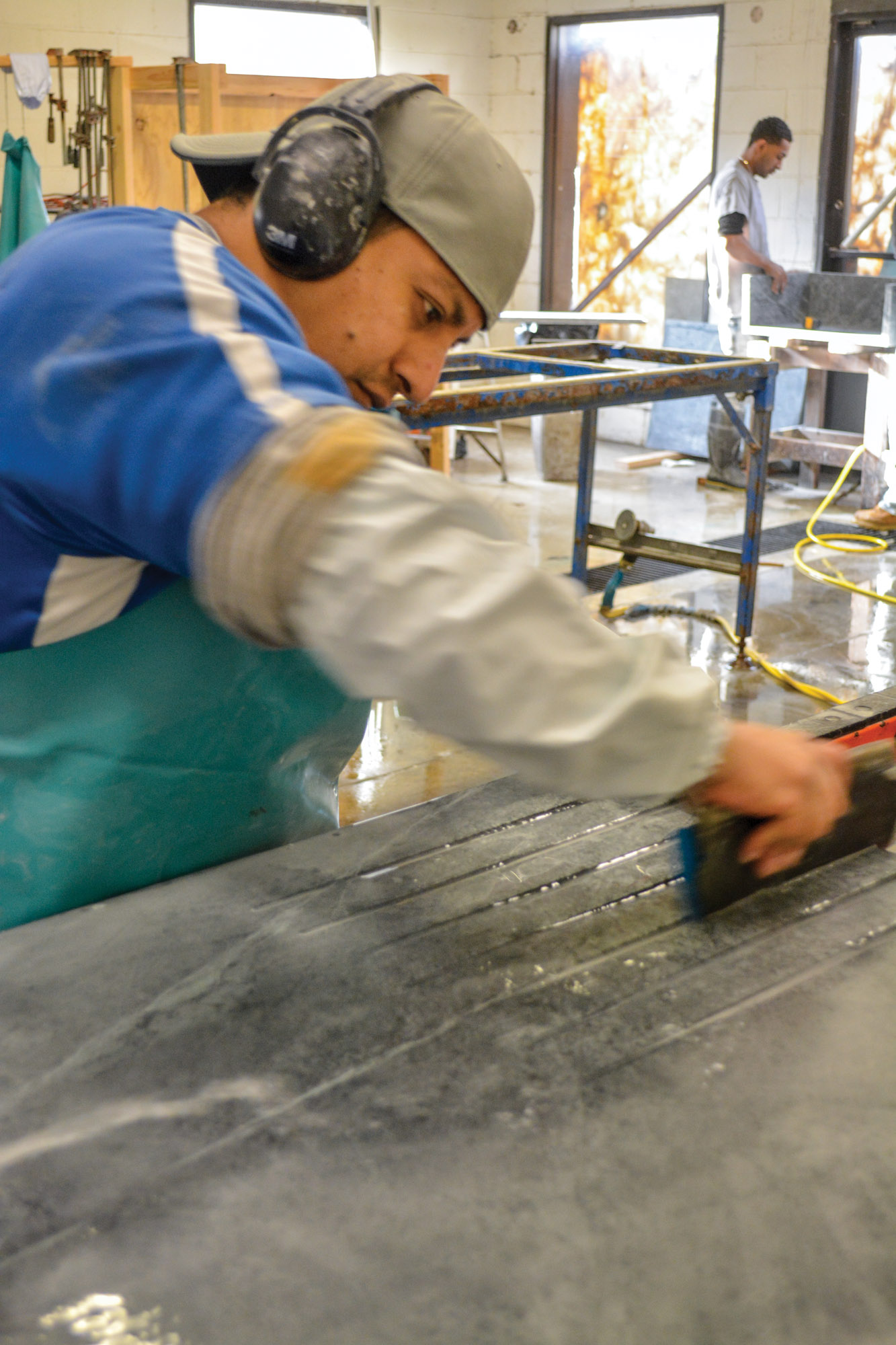 making a grooved countertop
