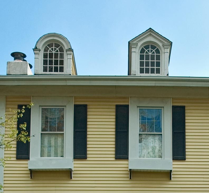 Improperly mounted shutters lack depth and shadows.