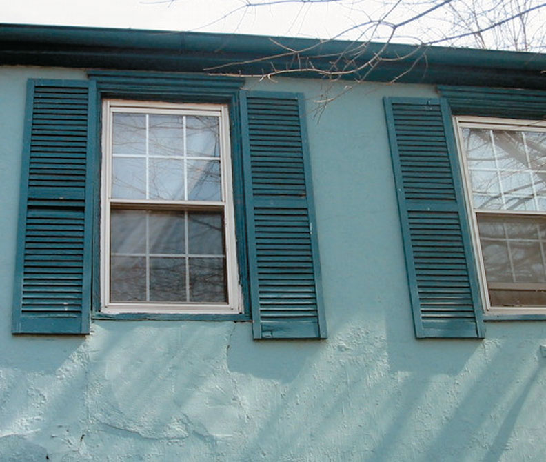 Shutters that overshoot the top and bottom of the window look silly.