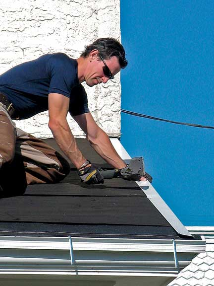 How To Install A Faux Slate Roof Old House Journal Magazine