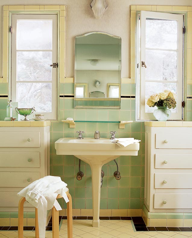 Colorful old house bathrooms restoration design for for Period bathroom ideas