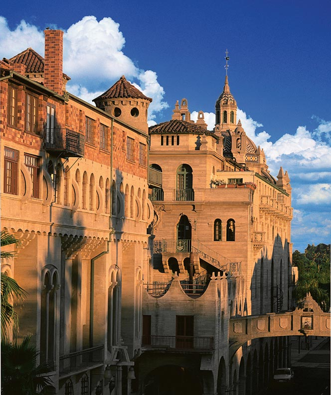 In Riverside, the Historic Mission Inn Hotel & Spa started as an adobe guesthouse in 1876.