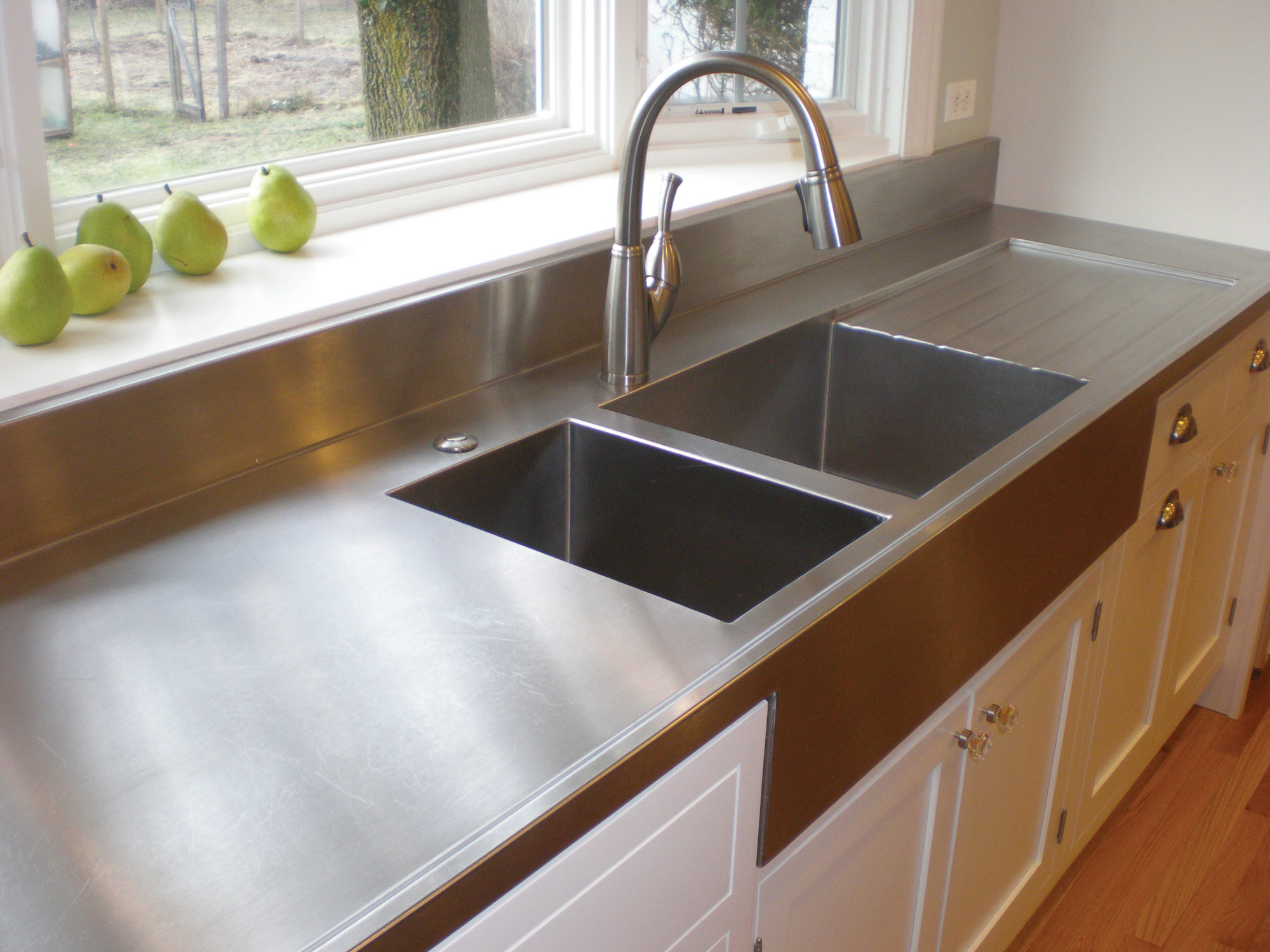 drainboard sink made by  Specialty Stainless