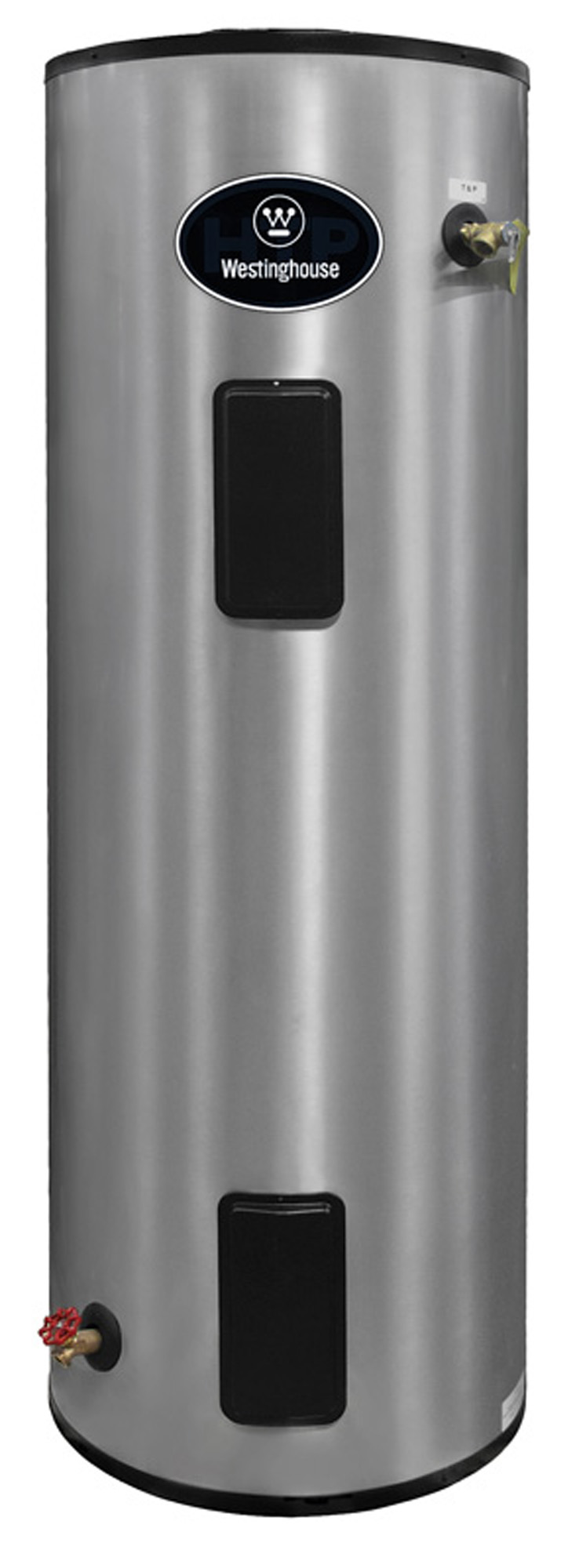 The Westinghouse stainless steel electric hot water heater has an energy factor (EF) of .95.