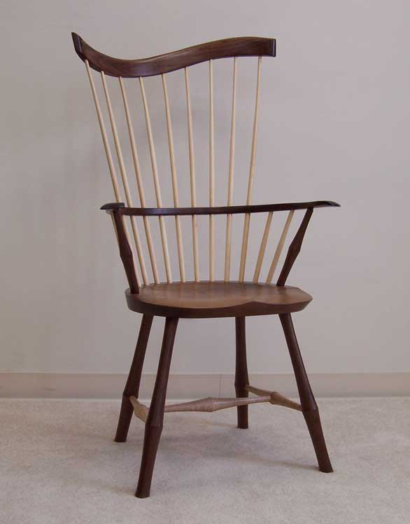 Start with a thematic piece: something antique, unique, or handmade that you simply must have. Use it to guide the rest of your furnishings. Shown here: A contemporary take on the Windsor chair by Warren Chair Works.