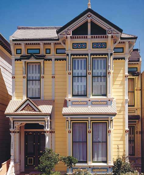 Stick stayed stylish all through the 1890s in San Francisco, bringing intricate, Eastlake-inspired façade ornament to countless wood row houses.