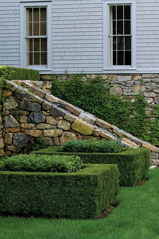 Sandoval is a perfectionist when he works, creating walls of stone that appear as if they've always been part of the landscape.