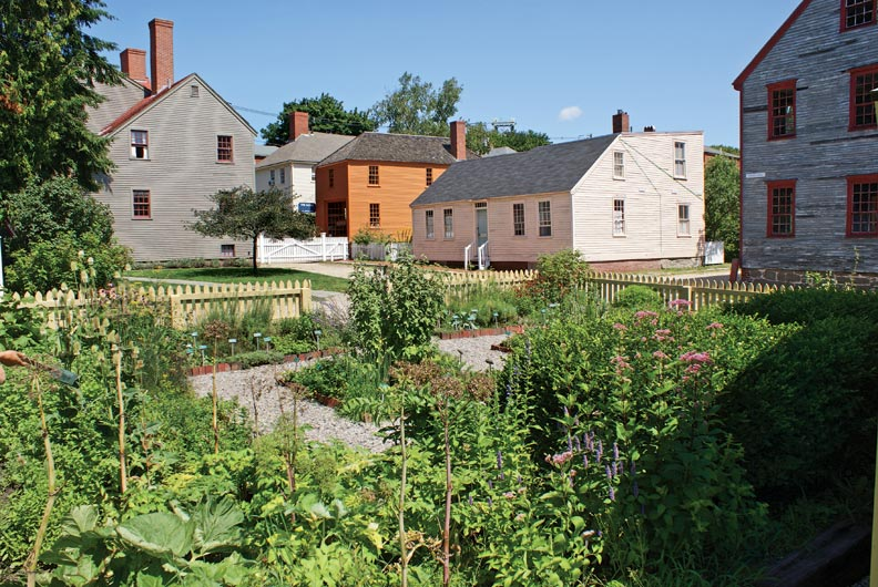 Historic houses and the teaching garden, a medicinal and culinary herb garden.