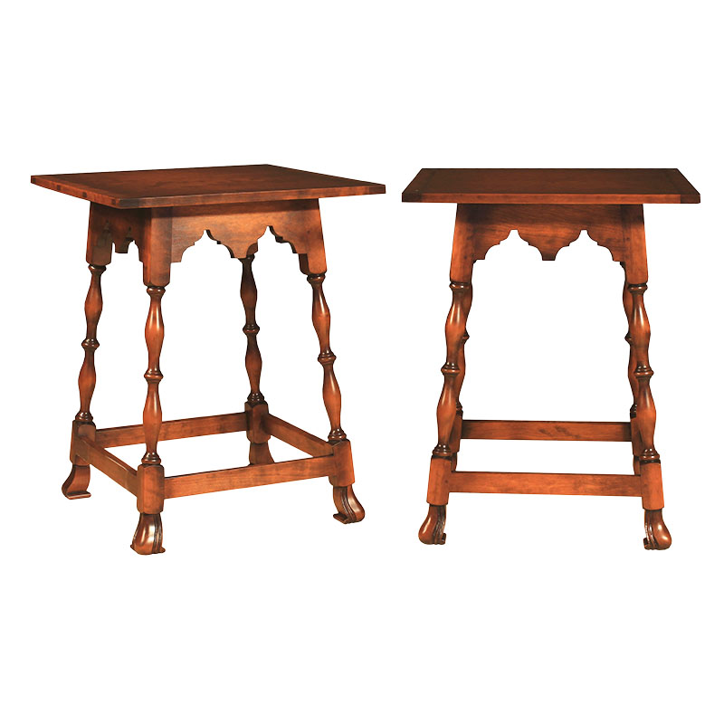 Stretcher tables with Spanish feet (Photo courtesy of Metropolitan Museum of Art)