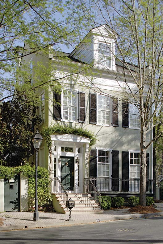 Classical lines define Jim Strickland's home in Georgia.