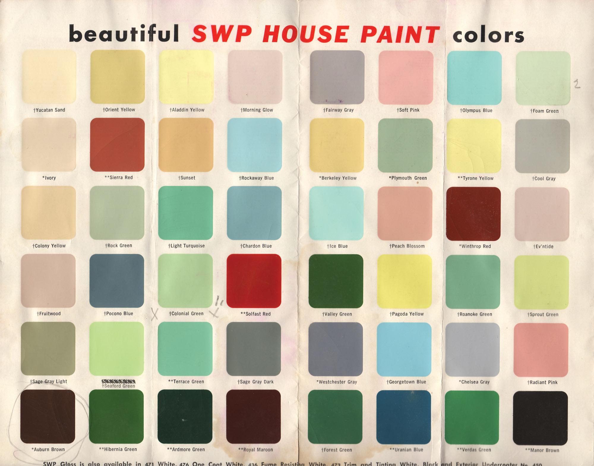 1956 paint chips