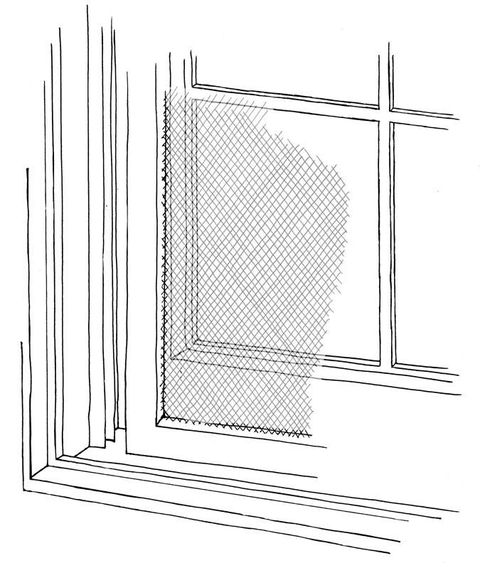 Others slide into channels in the window frame.