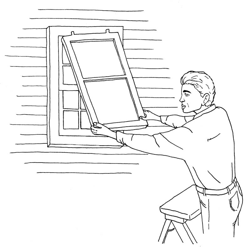 Don't be tempted to leave a few windows off your list—optimum airflow (and energy efficiency) depends on all screens in their proper place.
