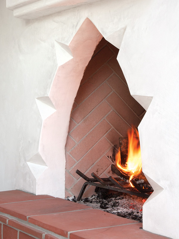 The arresting fireplace.