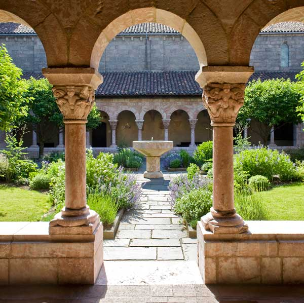 The Cuxa Cloister: A fine lawn was much admired in the Middle Ages.