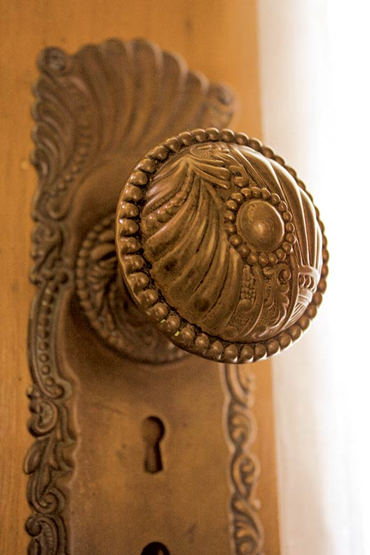 The door retains its Victorian hardware.