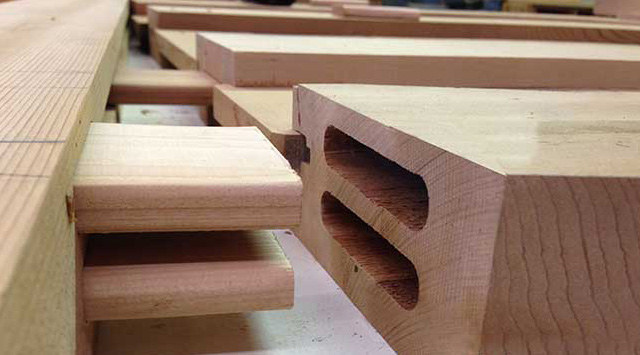 The double floating tenon joint.