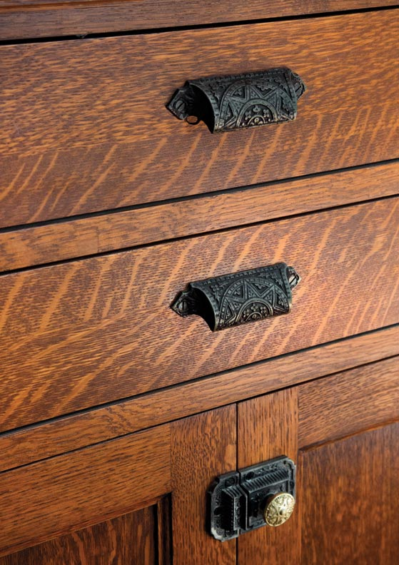 The drawer pulls are from House of Antique Hardware.