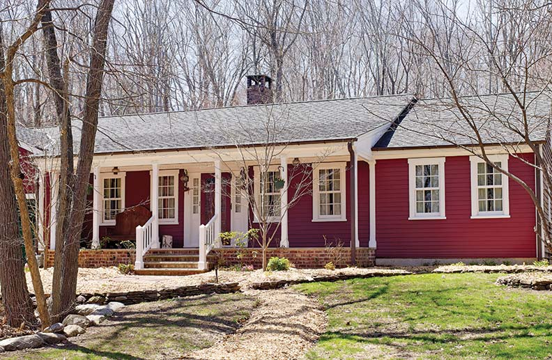 The house was adapted from a magazine plan for a New England Cape.