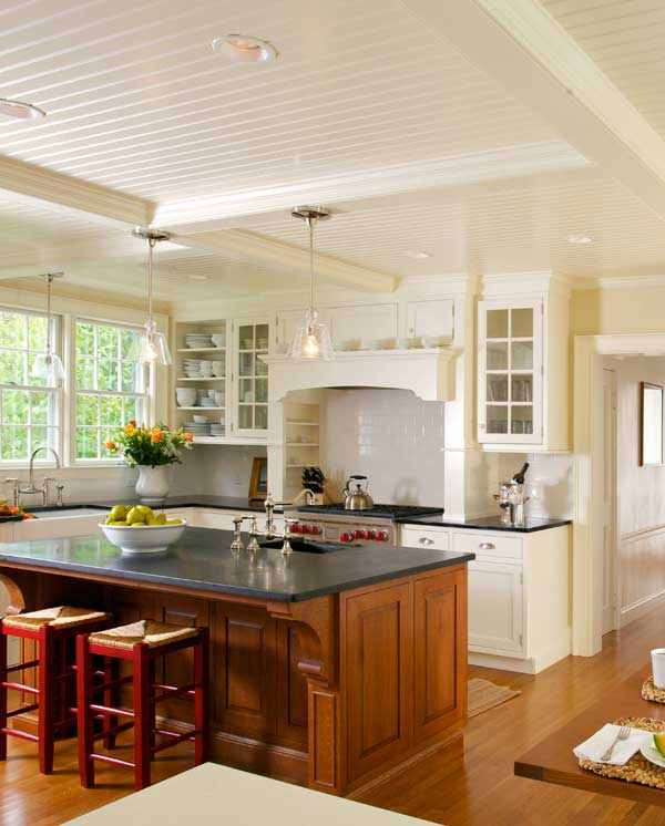 New Classic Kitchen In A Cape Cod Federal