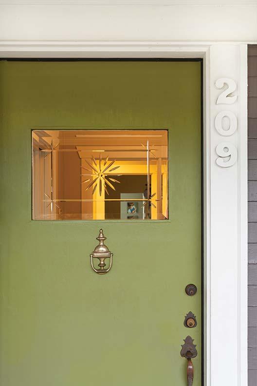 The original front door had been replaced sometime in the '60s.