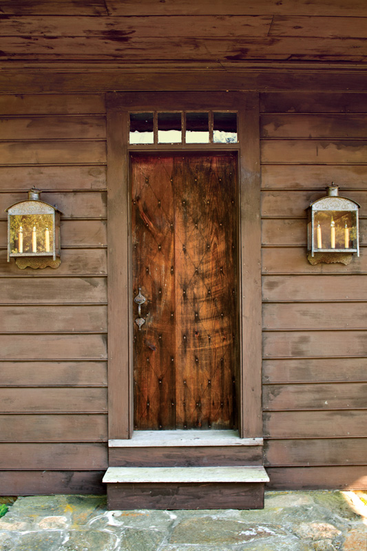 The owners specified a new door in the local Deerfield style.