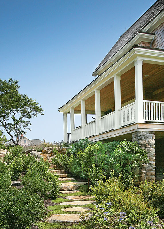 The porch plays a major role in how the property is enjoyed.