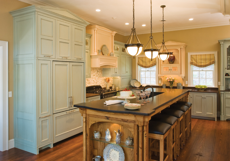 The Refrigerator Cabinet, Incorporating A Pantry, Looks Like A Large Armoire.  Above The