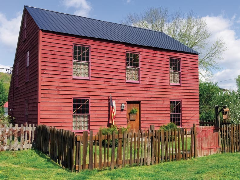 The Saltbox was based on late 18th-century models in New England.