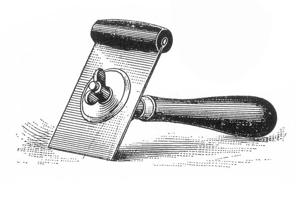 The Starrett Tool Co. designed this circa-1900 scraper specifically for floors. One hand pressed on the metal blade while the other pulled the handle. (Photo: National Archives Associates)