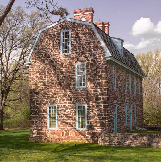 The tall gambrel-roofed Keith House was built starting in 1722 for the provincial governor.