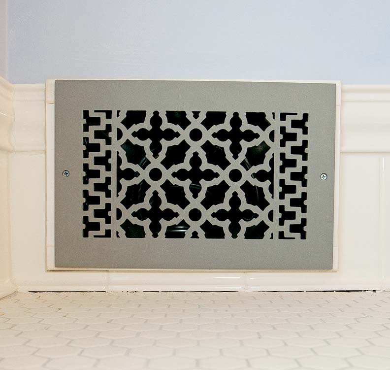 The vintage-inspired new HVAC grate.
