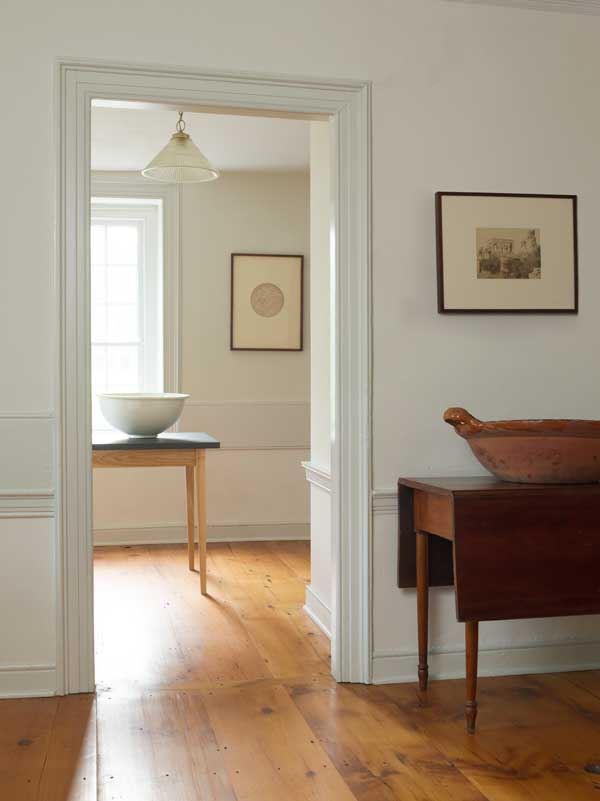 pine floors, shaker design