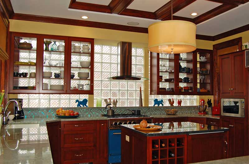 Glass Block Kitchen In An Old House Restoration Amp Design