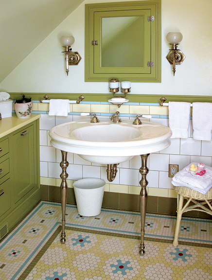 Mosaic Floor Tile Patterns For Baths Old House Journal Magazine